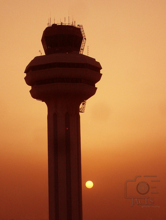Sunset at Kuwait City International Airport